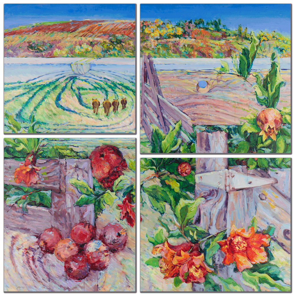 Spring Farm Mulit Panel Wall Art
