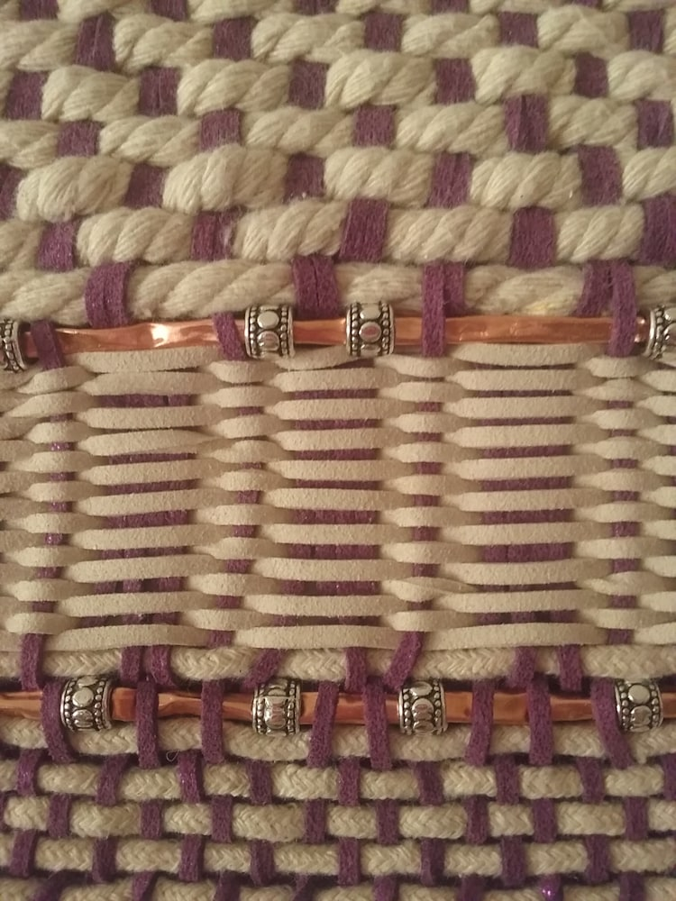 Artisan Weaving in Amethyst and Ivory 7