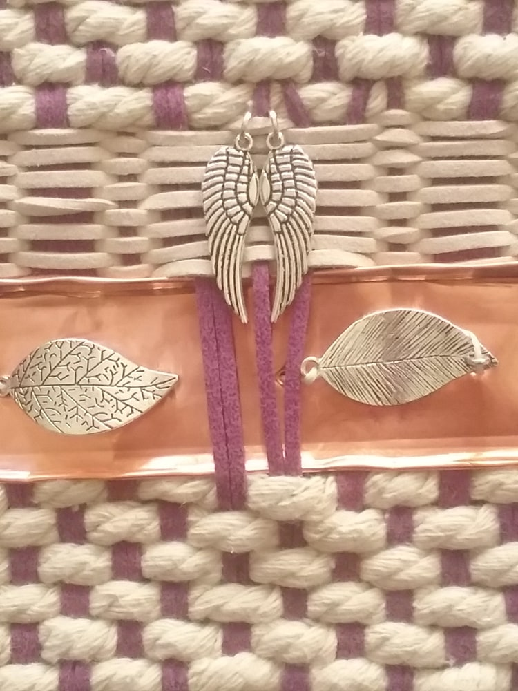 Artisan Weaving in Amethyst and Ivory 4