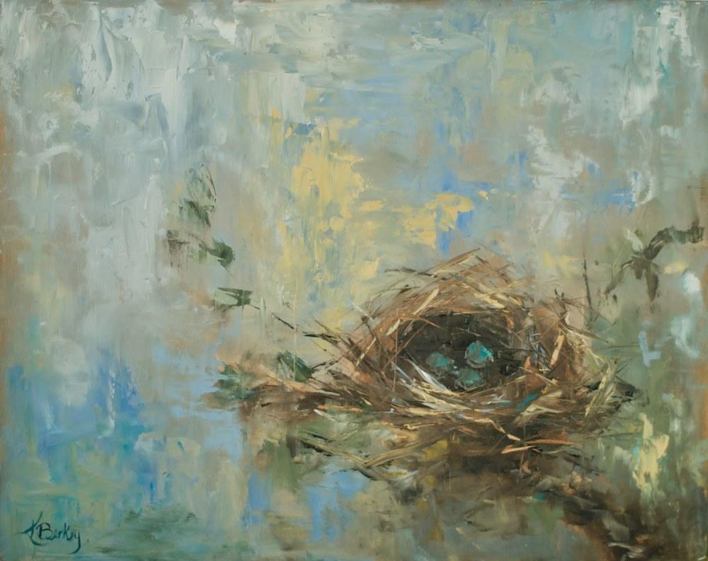 Nesting Kelly Berkey 20x16 oil on board $495