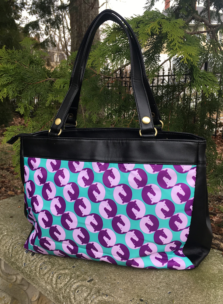 Purple Yin Yang Bag