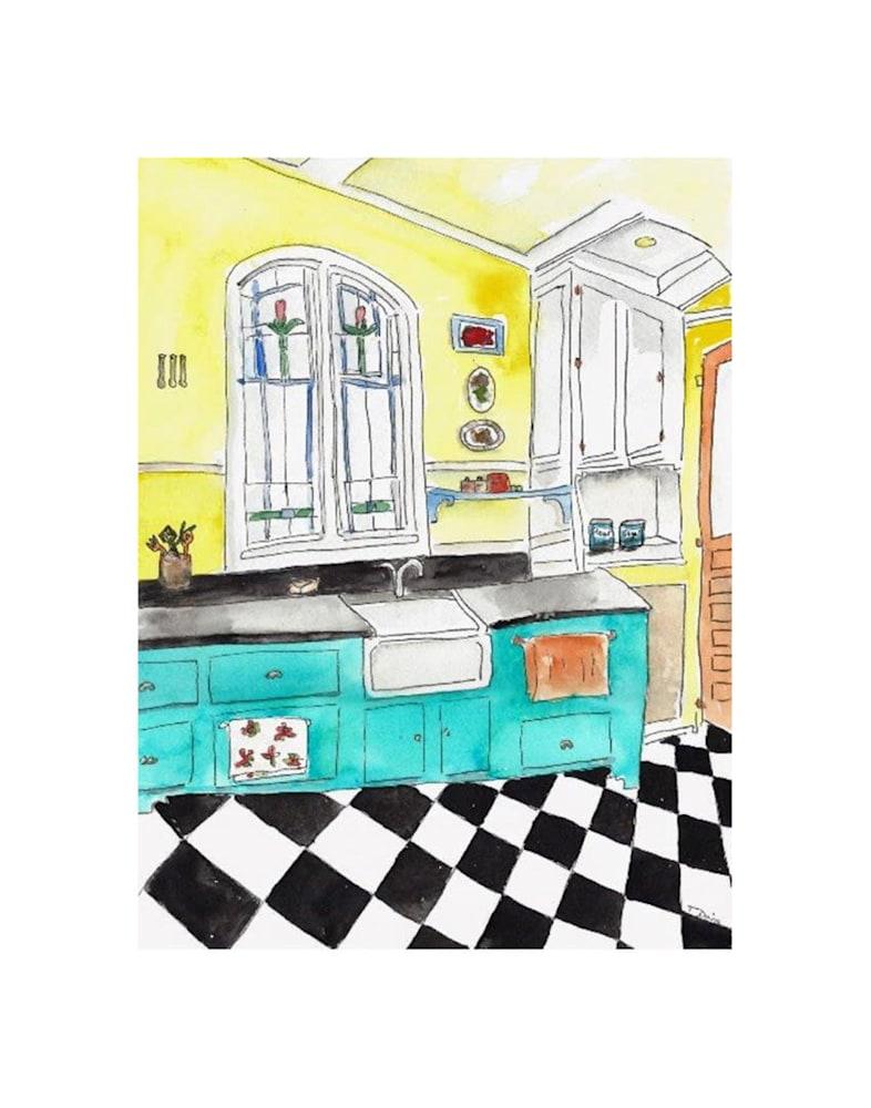 kitchen Print on 11x14
