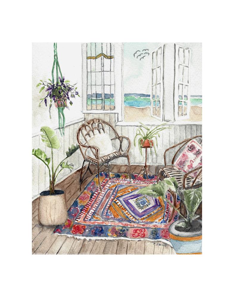 Beach Room Print on 11x14