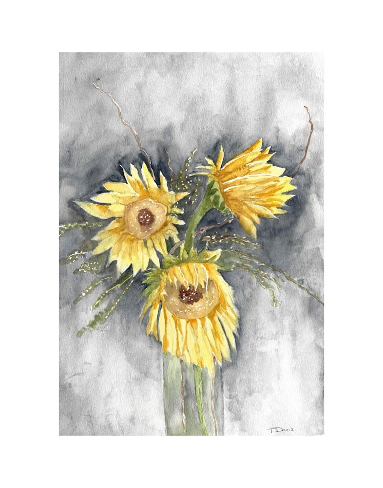Sunflowers Print on 11x14