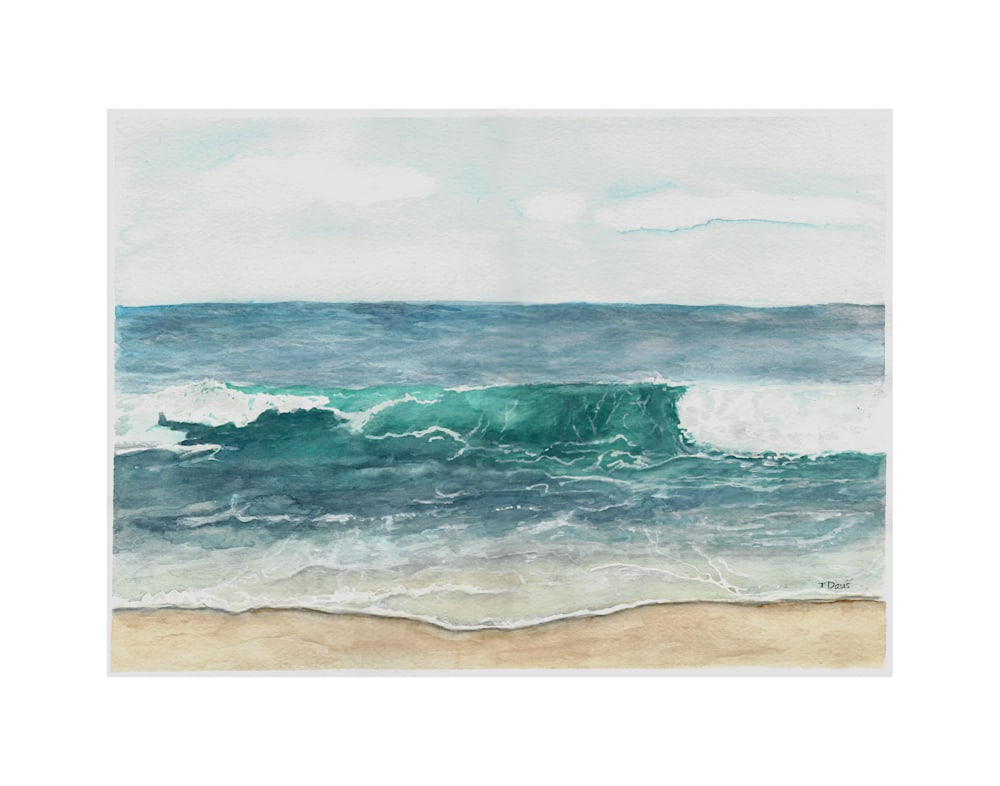 Ocean Wave Print on 11x14