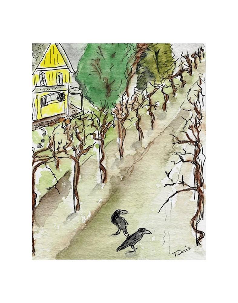 winter in the vinyard Print on 11x14
