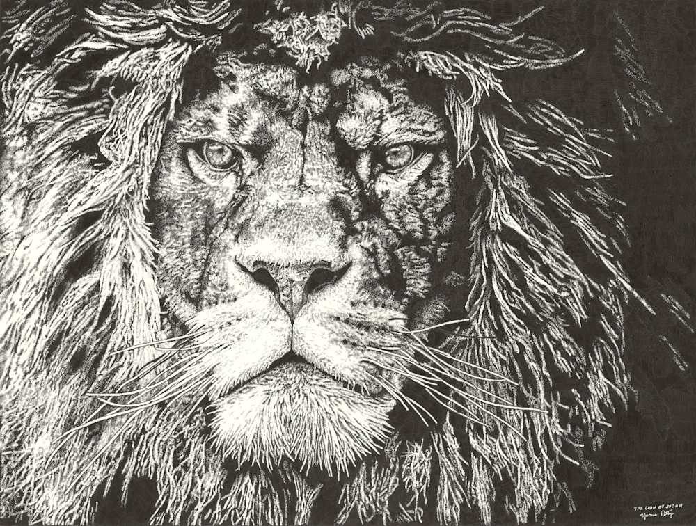 The Lion of Judah by Yvonne Petty 4000Pixels at 300DPI