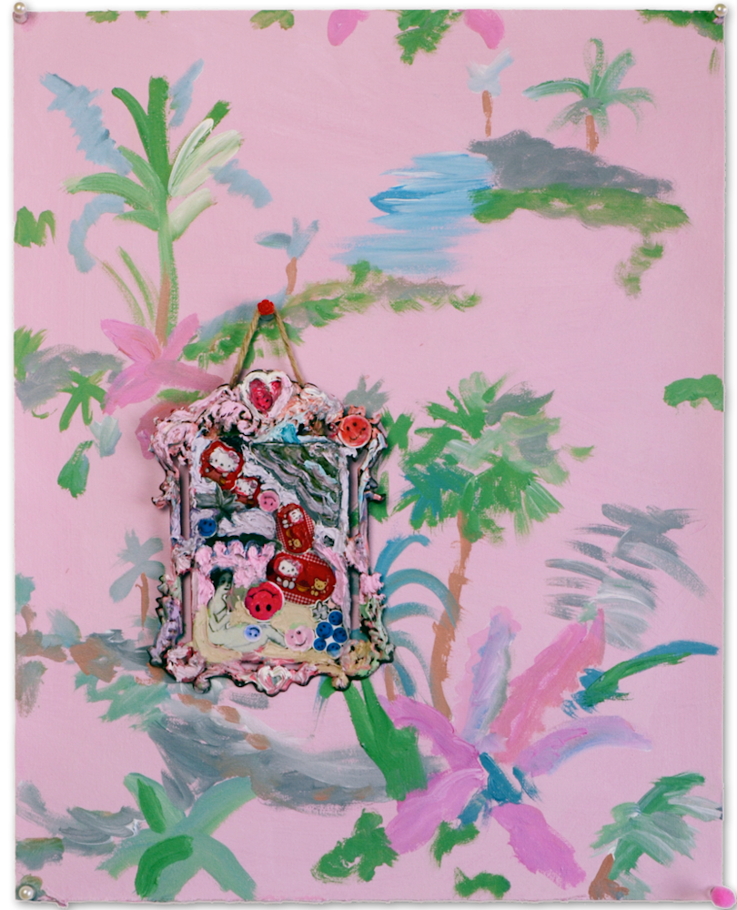 Tropical Picnic Painting Installation | Small Quirky Painting | Annelie McKenzie
