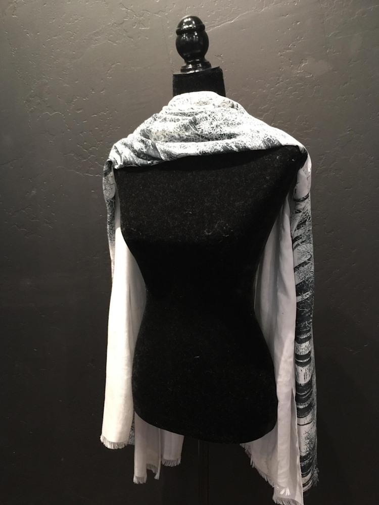 scarf bw landscape