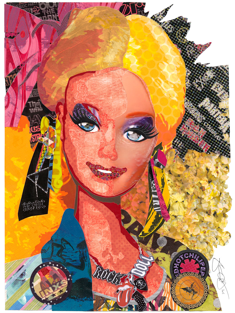 Barbie 12 x 16 signed