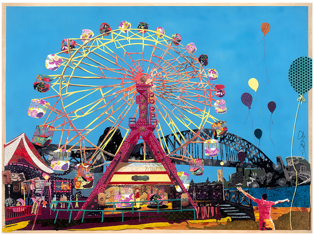Luna Park 32x24 signed LIMITED
