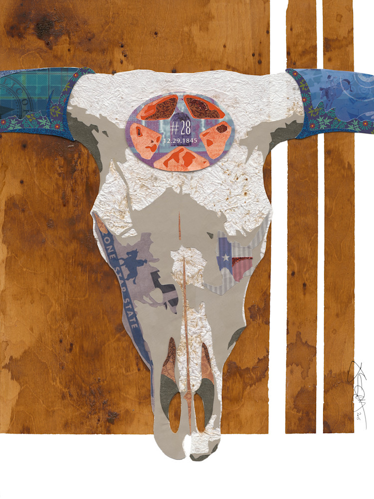 Longhorn Skull 12x16 signed
