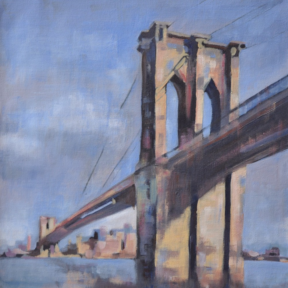 36x36 Brooklyn Bridge by Steph Fonteyn