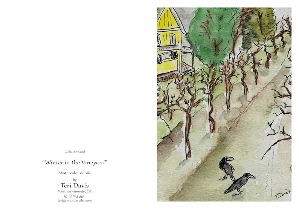 Winter in the Vineyard Card NO CROP