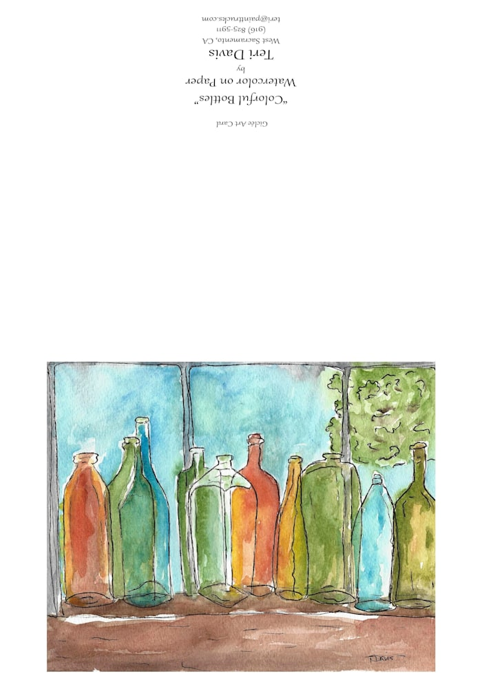 794 794 3 colorful bottles card j1avkj jpg 3 7x10 matte greeting card 814026