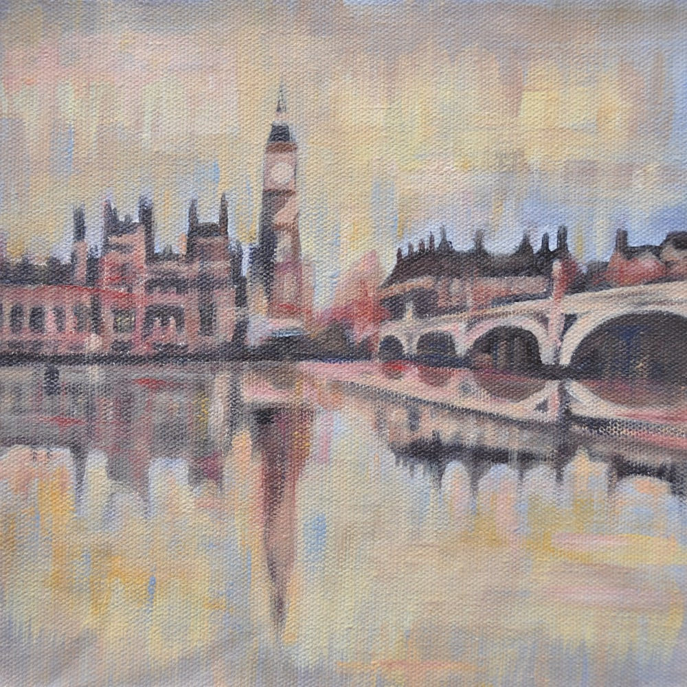 19x19 Big Ben from the Thames by Steph Fonteyn