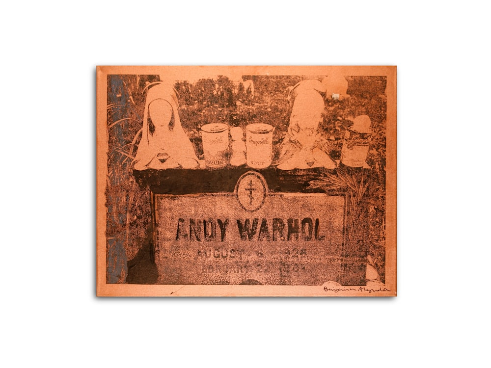 Untitled Andy Warhol Gravesite Gold Benjamin Alejandro 20X26