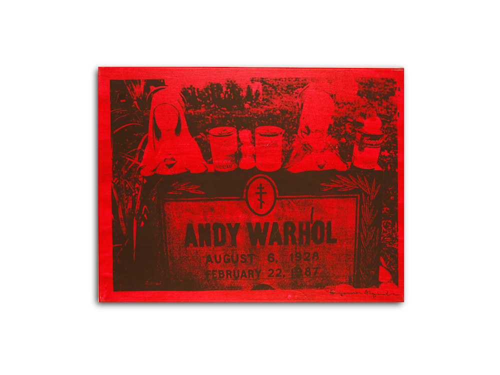 Untitled Andy Warhol Gravesite Red Benjamin Alejandro 20X26