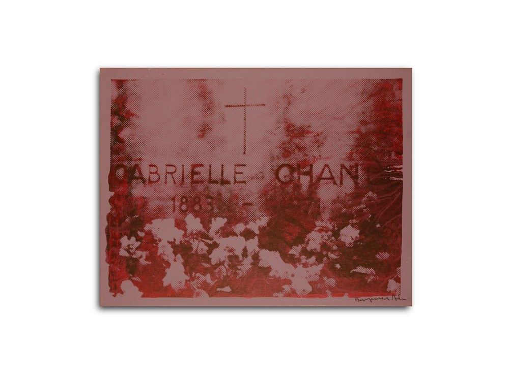 Untitled Chanel Gravesite Purple Benjamin Alejandro 20X26