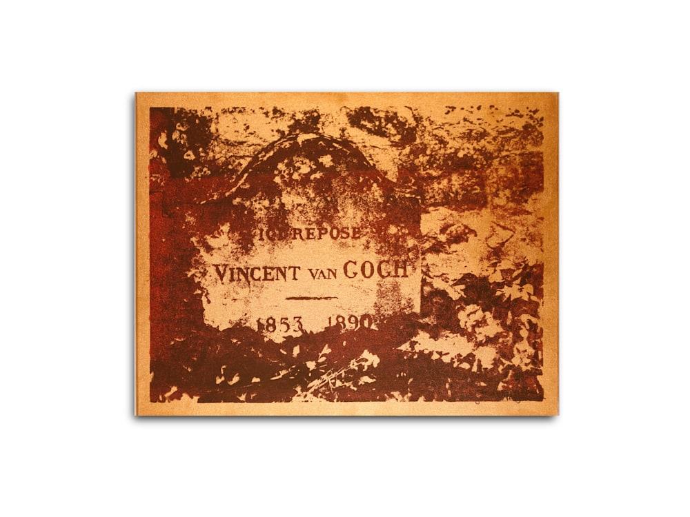Untitled Vincent Van Gogh Gravesite Gold Benjamin Alejandro 20X26