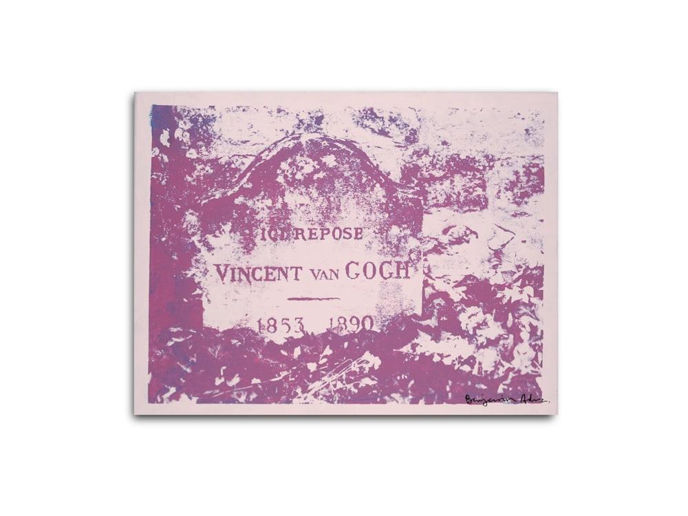 Untitled Vincent Van Gogh Gravesite Pink Benjamin Alejandro 20X26