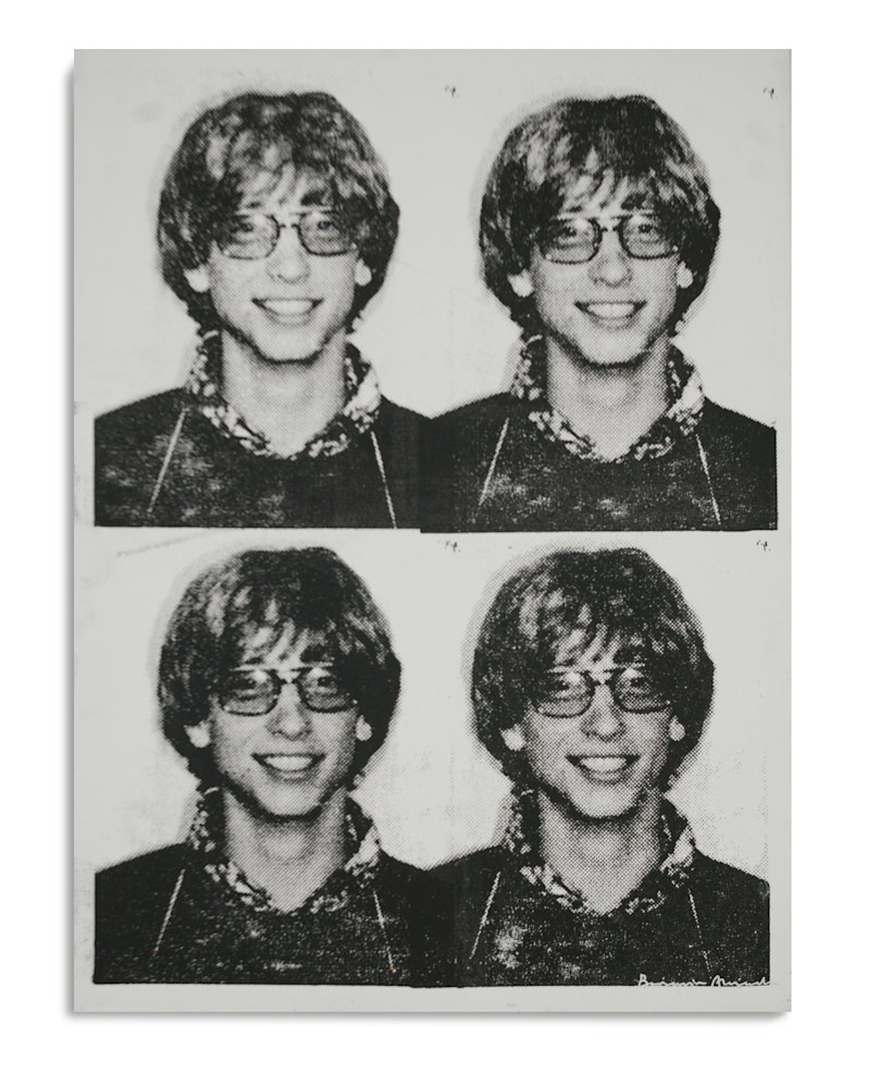 Mugshot Bill Gates White Black Mugshot Series Benjamin Alejandro