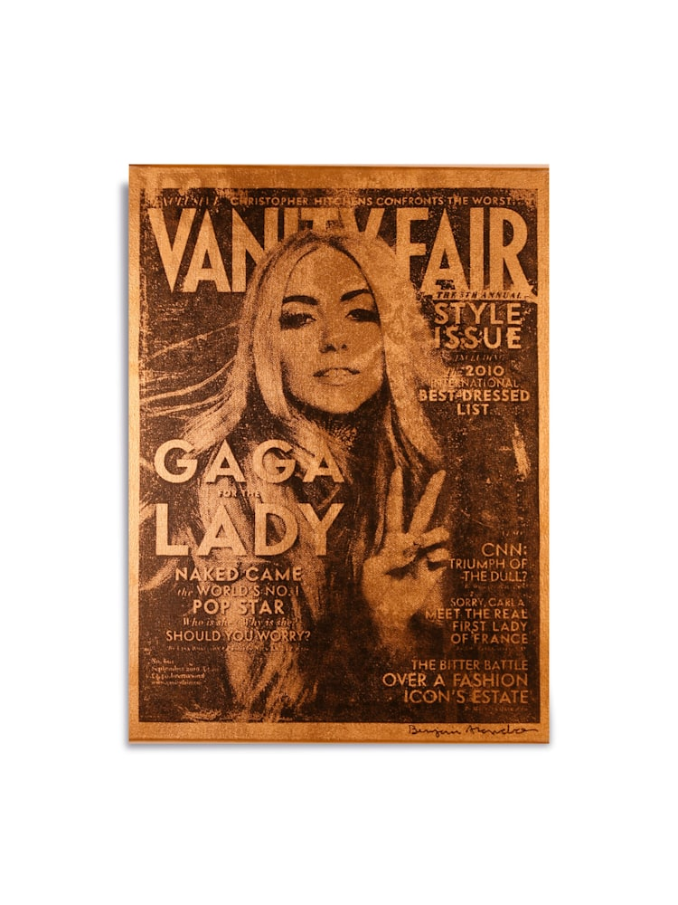 Untitled Lady Gaga Vanity Fair Gold Benjamin Alejandro 20X26