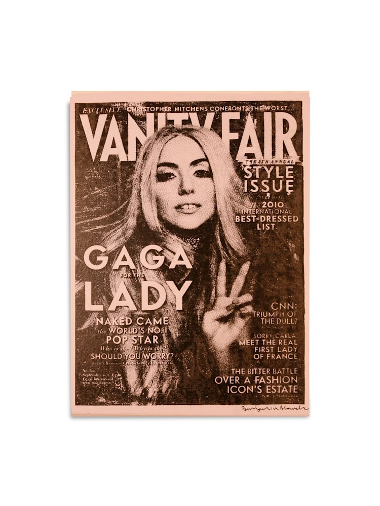Untitled Lady Gaga Vanity Fair Light Pink Benjamin Alejandro 20X26
