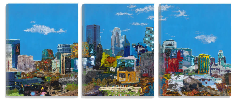 MINNEAPOLIS SKYLINE (Triptych)
