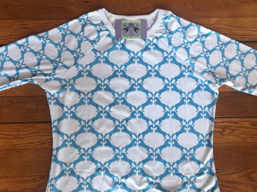 Blue Horse Shirt flat