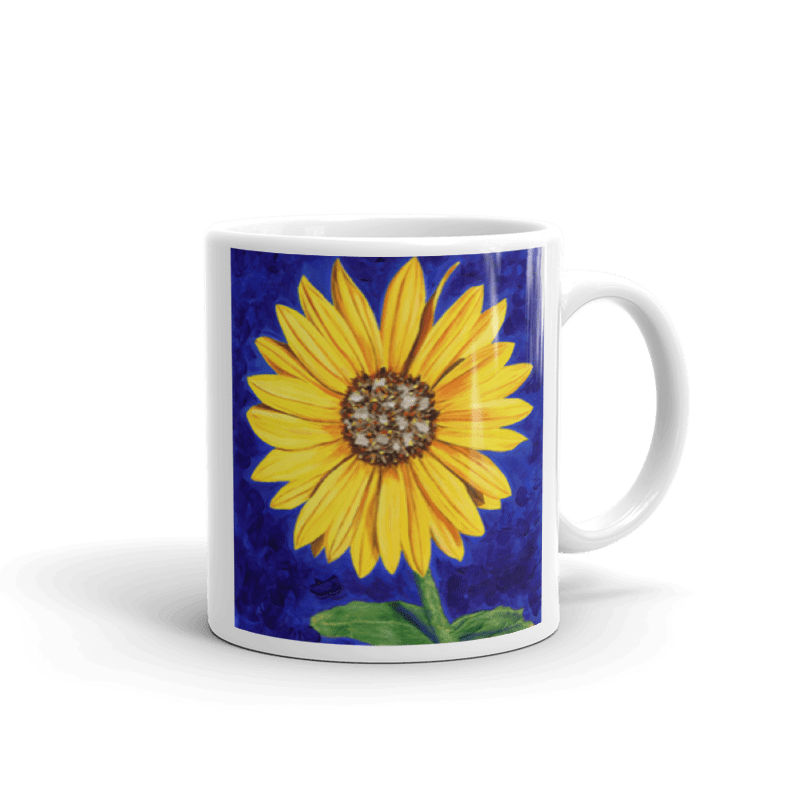 Sunflower Handle on Right 11oz