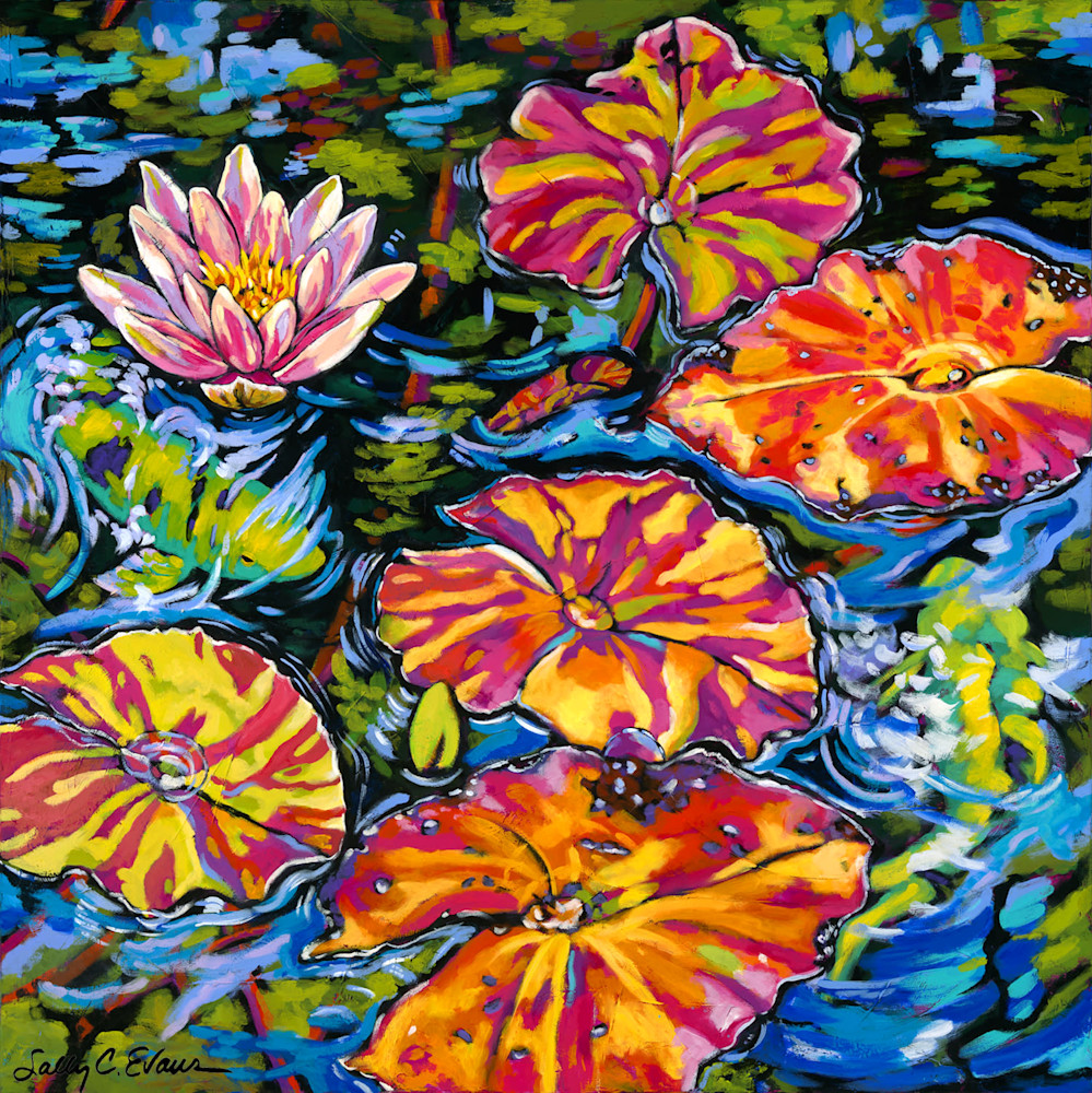 Lilies Dance with Koi Blick AD