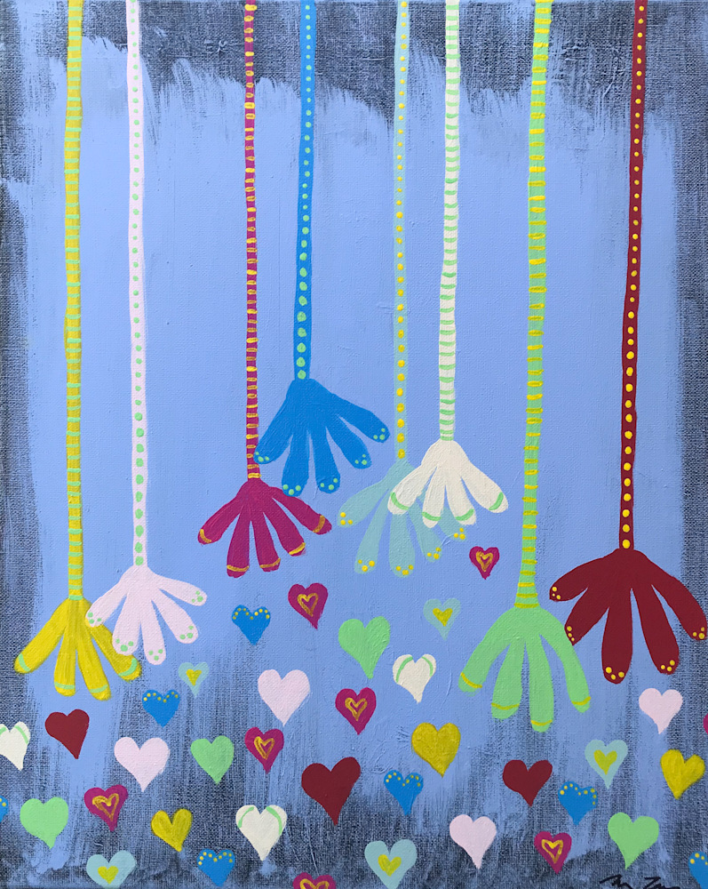 Hands and Hearts by Michele Taras | SavvyArt Market original painting