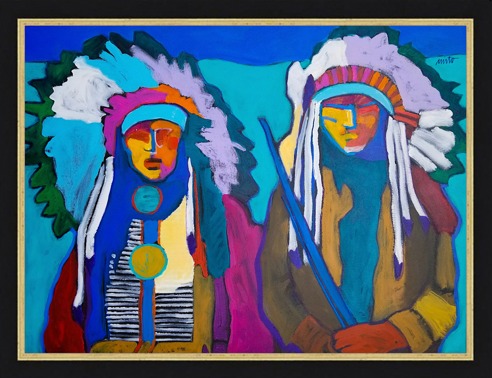 Two Arapaho framed
