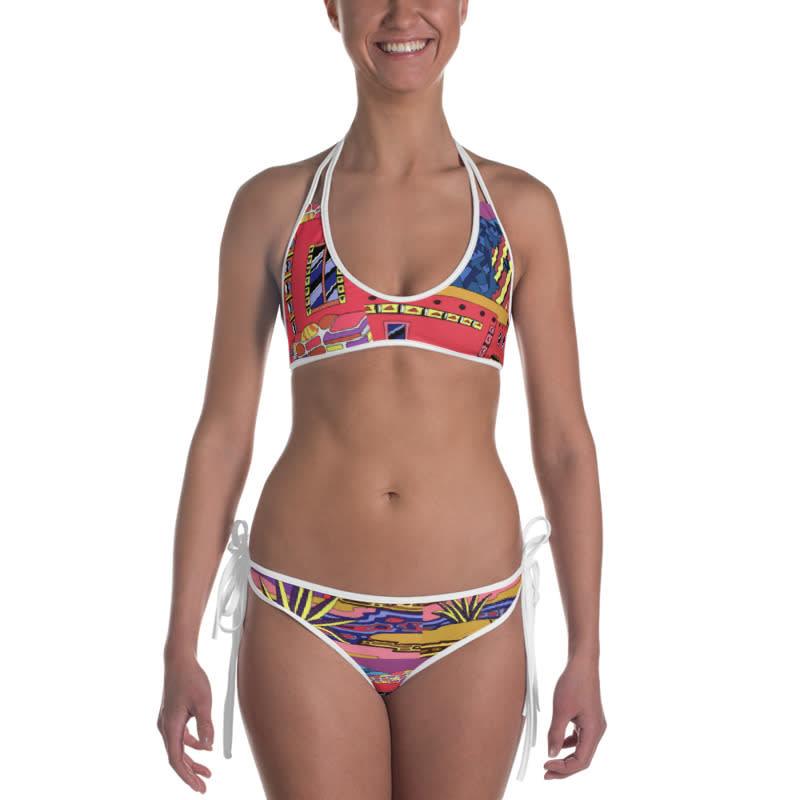 mockup Front view of Bikini Inside White