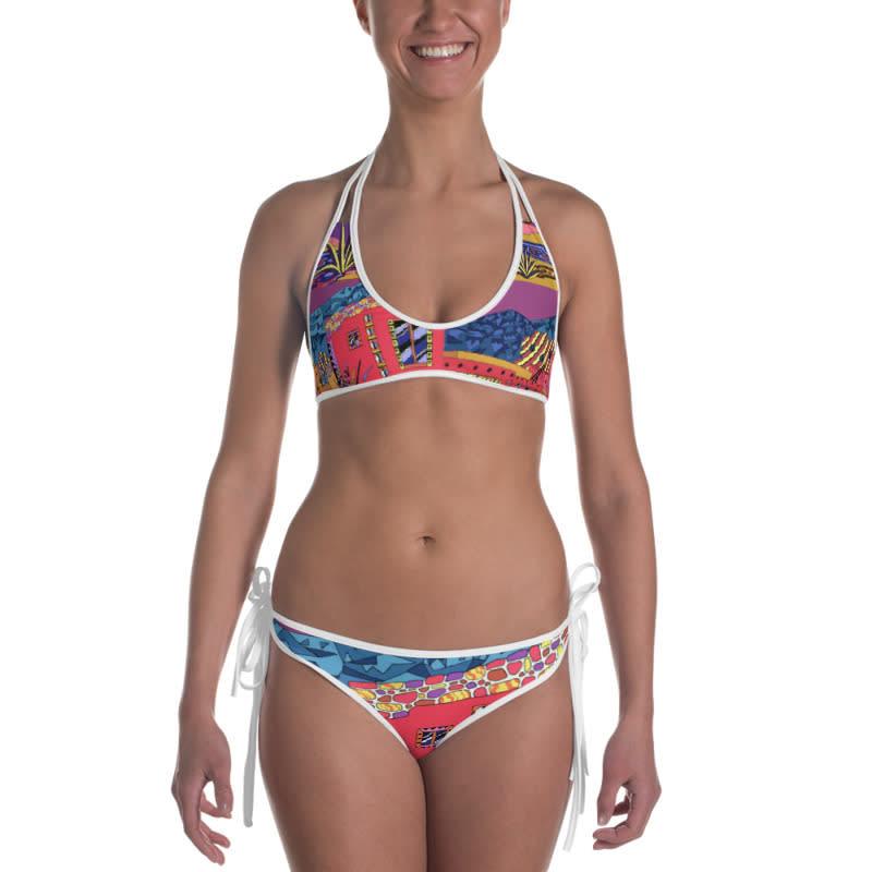 mockup Front view of Bikini Outside White