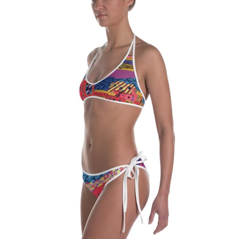 mockup Left view of Bikini Outside White