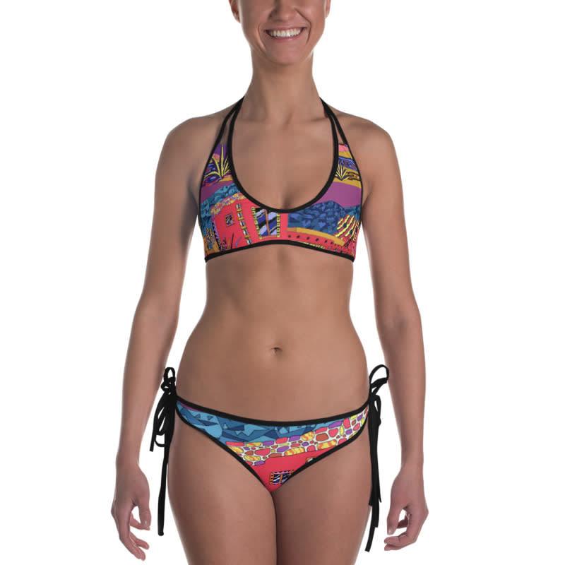 mockup Front view of Bikini Outside Black
