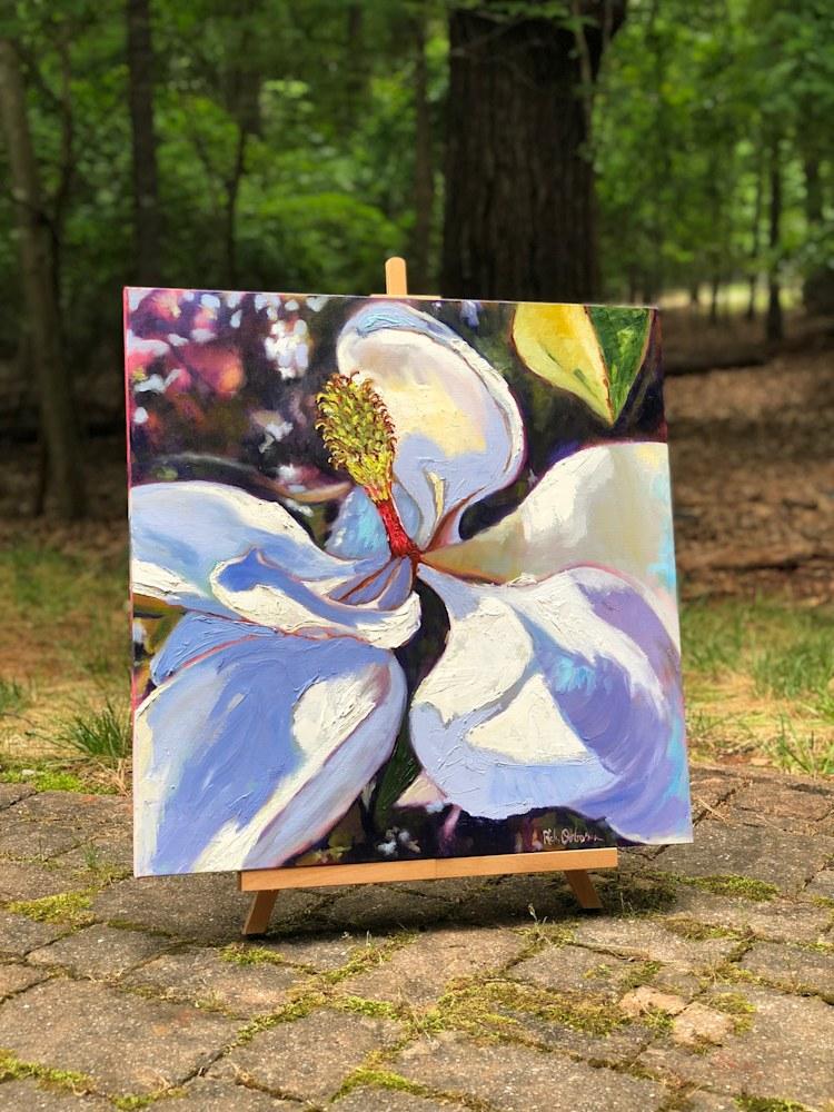 magnolia blossom outside