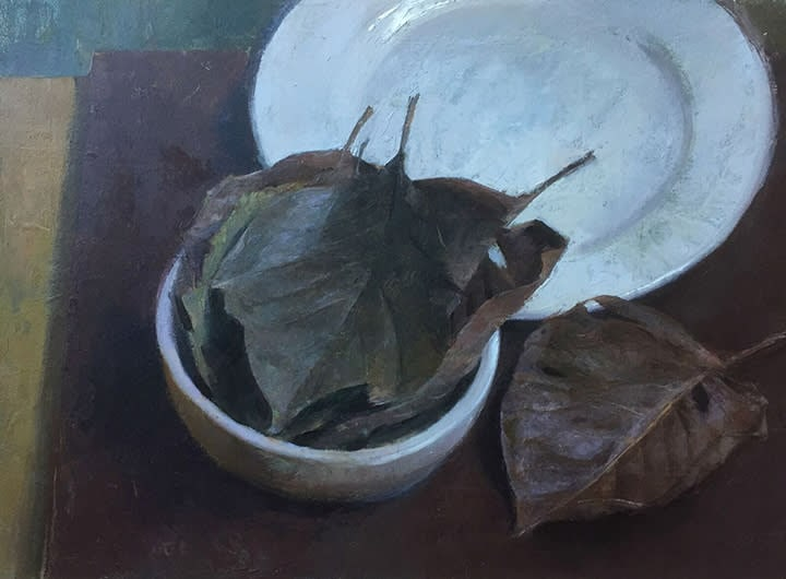 Still Life in Burgundy and White