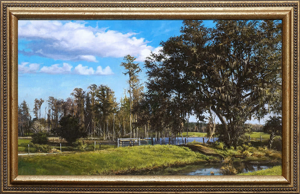 Serene Summer Oak framed 1000 pixels