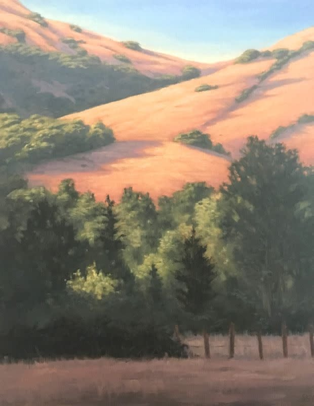 Golden Hills and Trees, 20x16