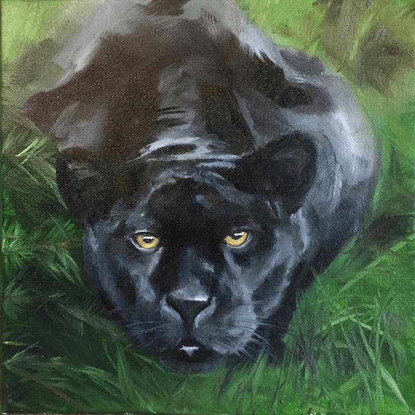 04 2017 Alla Prima Panther Oil