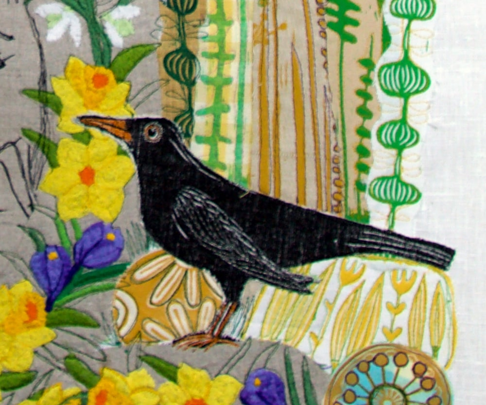 collage for Gemma a new beginning bird