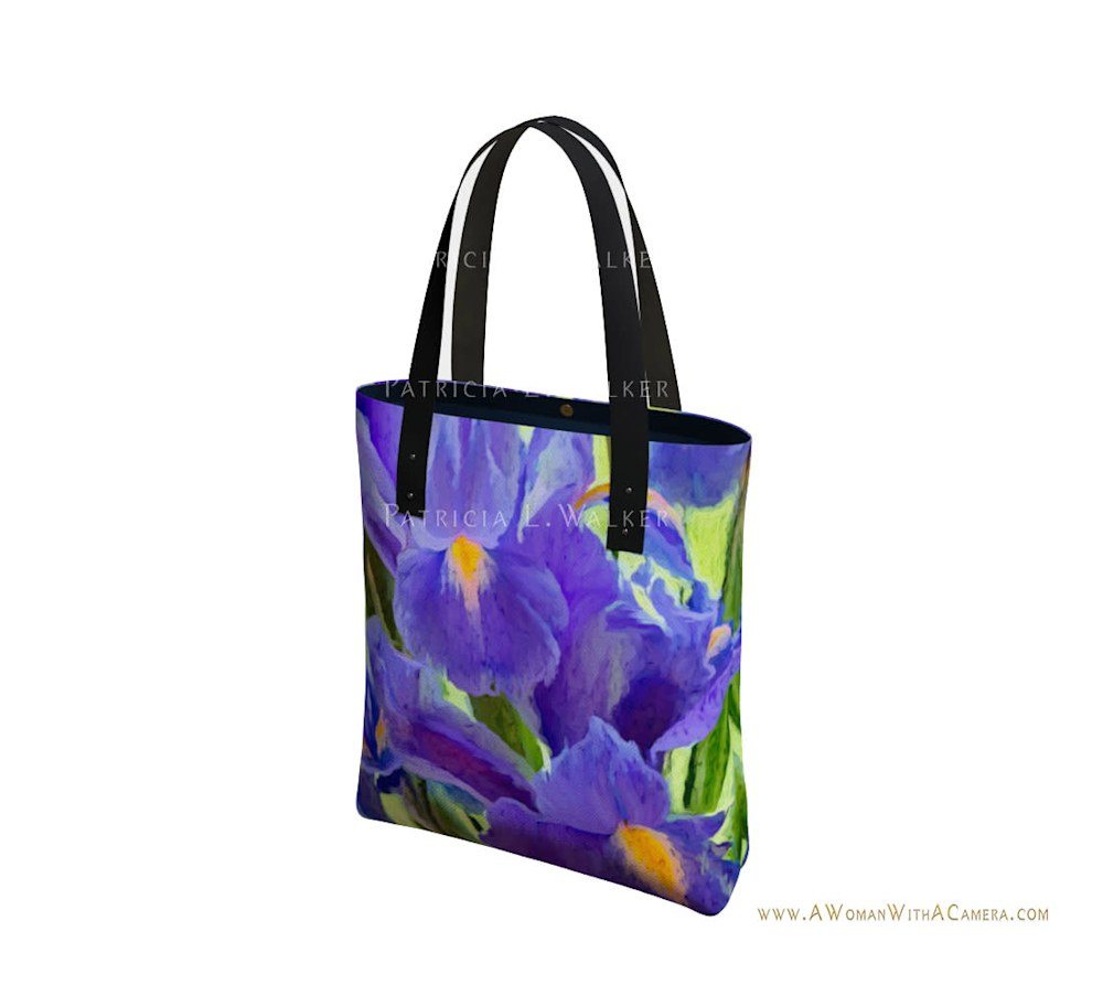The Iris Affair Urban Tote Front watermark