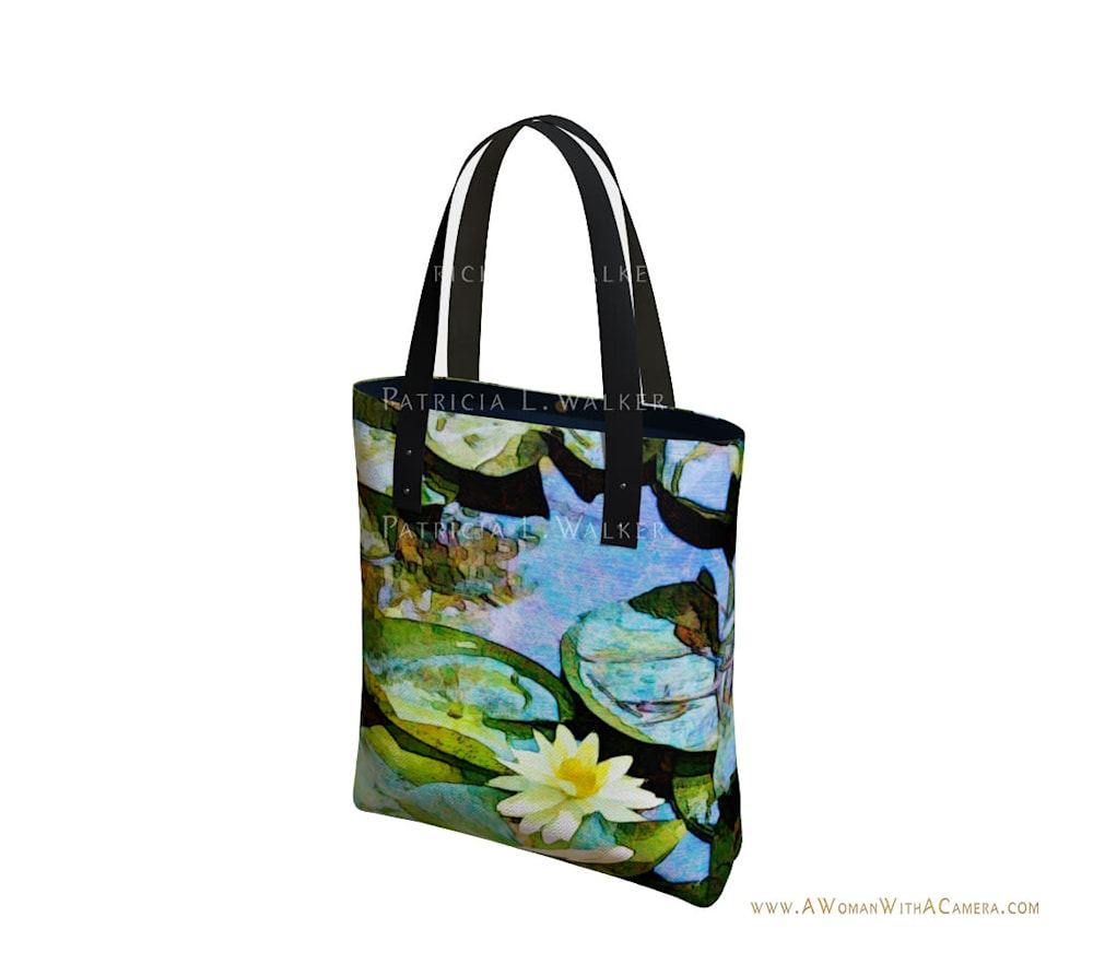 Waiting for Monet Tote Front watermark