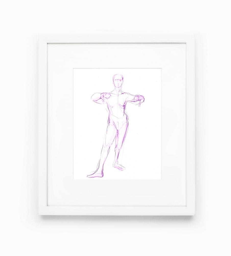 purpledancerstanding framed