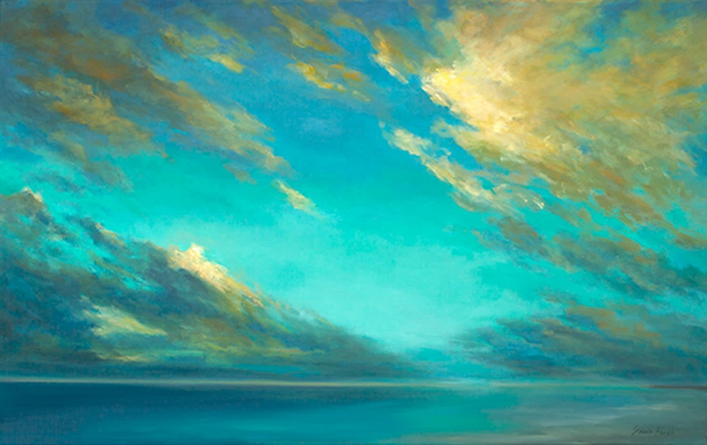 4501 coastal clouds37 30x48 oil
