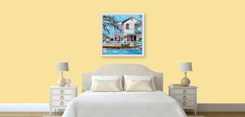 blue bayou on wall
