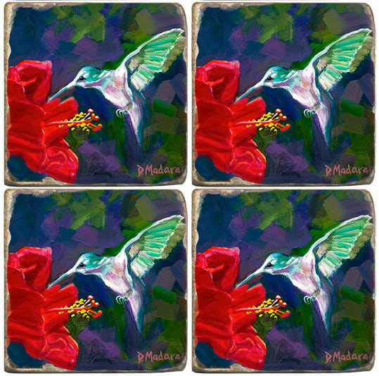 Hummingbird & the Hibiscus | Coaster Set
